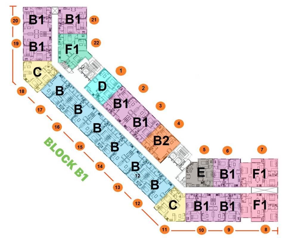 mat bang block b1 green town
